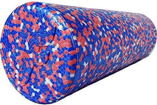 Flow Sportz HighDensity Travel Sized Foam Roller Red White amp Blue Colors