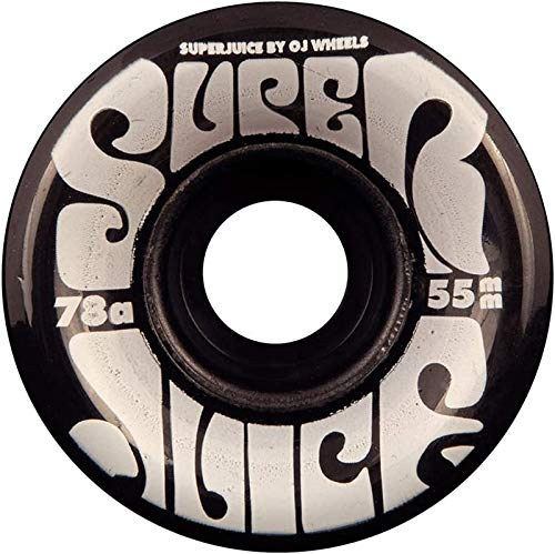 OJ III Skateboard Wheels 55mm Mini Super Juice 78A Trans Black