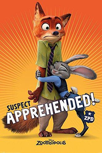 empireposter Zootropolis-Zoomania-Suspect Apprehended Film Movie Poster 61x91,5 cm, Papier, bunt, 91.5 x 61 x 0.14 cm
