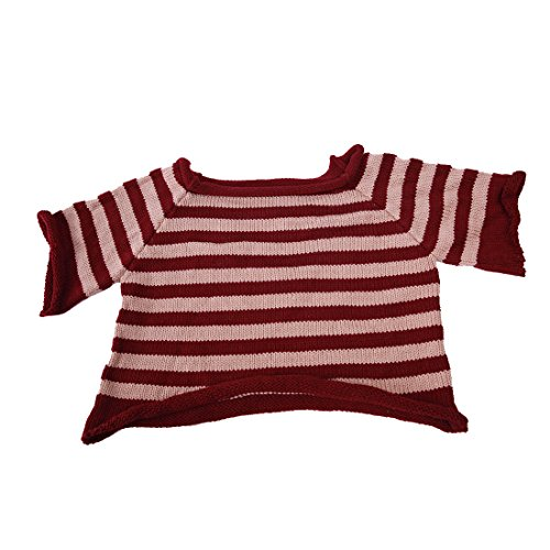Yatoy Puppen Pullover für Bär Plüschbär, Shirt für Teddybär 30 cm Kleidung Spielanzug Sweat shirt Kostüme Fits for Beige & Purple (about 11inches)