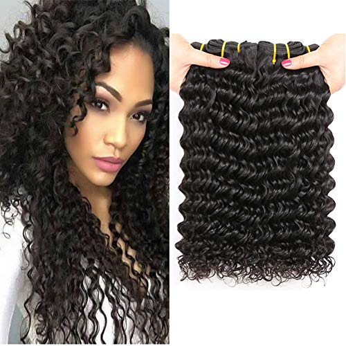 PF Hair 9A Brazilian Deep Wave Hair Bundles 8 10 12 inch 300grams Unprocessed Virgin Human Hair Extensions Locken Echthaar Brasilianisch Haar Bündel Tiefen Welle Brazilian Deep Curly Hair