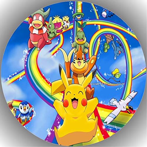 Fondant Tortenaufleger Tortenbild Geburtstag Pokemon T4