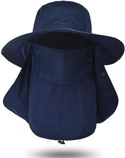 Fdrirect Protetor solar externo para homens e mulheres, proteção solar UV UPF 50+ com aba removível para o pescoço, chapéu...