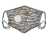 Cubierta facial, mármol piedra ladrillo gris, pasamontañas, unisex, reutilizable, resistente al viento, anti polvo, bandanas al aire libre, camping, motocicleta, correr, polaina para el cuello
