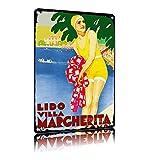 ERMUHEY Lido Villa Margherita Como Italien Reise Poster