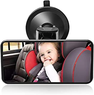 comprar comparacion SunTop Bebé Espejo Retrovisor, Universal de Coche Asiento Trasero Vista Espejo Monitor de Coches de Bebé