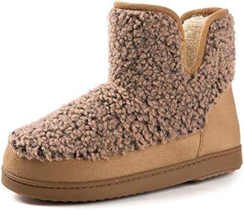 RockDove Women s Fuzzy Fleece House Bootie Memory Foam Slipper with Rubber Sole Size 8 US Women product image