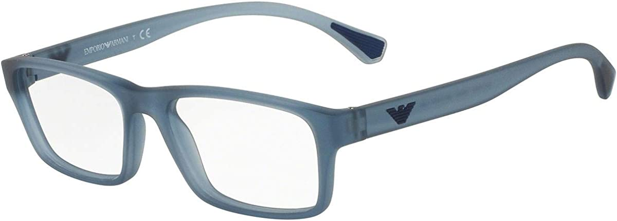 Large-scale sale Armani EA3088 Eyeglass Frames Regular discount Transparent Blue 5535-Matte