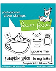"LAWN FAWN Clear Stamps 3""X2"" Pumpkin Spice (LF1462)"