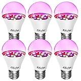 Olafus 6 Pack Lámpara de Plantas Bombillas LED E27 7W, Grow Light Iluminación para Plantas Cultivo...