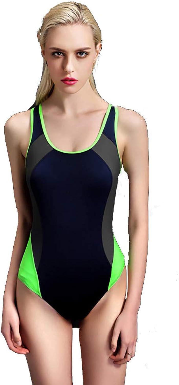 ZXCC Einteiliger Badeanzug versammelt, Bedeckter Belly Conservative Student Einteiliger Rock-Badeanzug Female (Farbe  Blau) (Farbe   XXL)