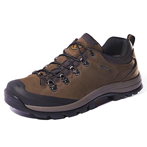 CAMEL Crown Herren Wanderschuhe Wasserdicht Trekkingschuhe Nubuk Leder Outdoorschuhe, Anti-Rutsch-Sohle Sports Schuhe Leichte Atmungsaktive Bequeme Trekking Schuhe Männer