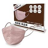 4層マスク 使い捨て 不織布 4層 カラー 99%カット 大人用 成人 男女兼用 ウイルス対策 防塵 花粉 風邪 まとめクーポン (スモーキーピンク, 30枚入り) [並行輸入品] KT KT-ny373-wh