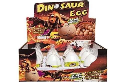 Schnooridoo 4 x Magische Dinosaurier Eier wachsender und schlüpfender Dino Ei Mitgebsel Kindergeburtstag Give Away