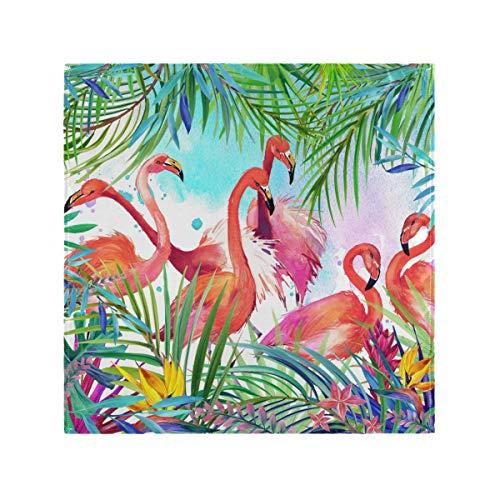 JIRT Dinner Bird Flamingo Servilletas de Tela Tropical Decoración de la Mesa Lavable Suave Reutilizable
