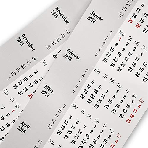 Truento Kalendarium für 2 Jahre (2021 & 2022) - passend für 3-Monats-Tischkalender mit Drehmechanik