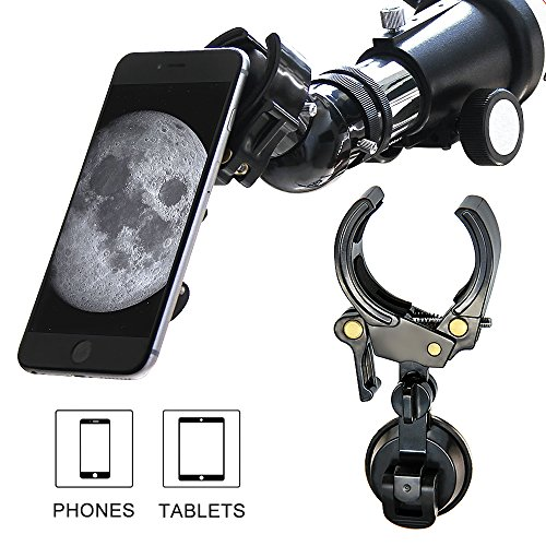 MeeQee Cell Phone and Tablet Adapter Mount, Universal and Protectable- Compatible with Telescope Spotting Scope Binocular Monocular and Microscope - Style1