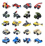 Buildable Vehicles Mini Building Blocks 20 Sets, Building Car Toys for Party Supplies,Birthday Favors, Kids Prizes, Goodie Bags