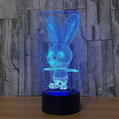 Konijn tafellamp 7 kleuren veranderen bureau lamp 3D lamp nieuwigheid led nacht lichten led licht