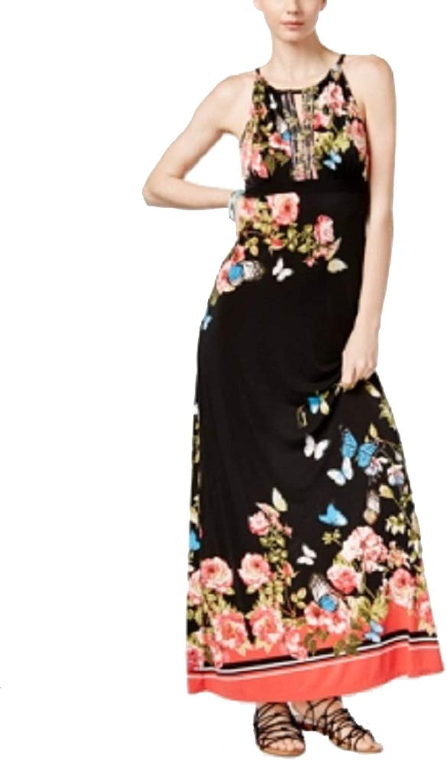 I.N.C. International Concepts Women's Petite FloralPrint Keyhole Maxi Dress