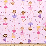Comfy Flannel Print Ballerinas, Fabric by the Yard