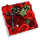 Auntwhale Seifenrose-Blumen-Geschenkbox, Blumenstrauß Seife Rosen Geschenkbox, Geeignet für...