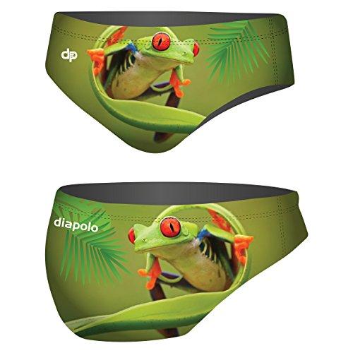 Diapolo Frosch Professioneller Schwimmhose Badehose Wasserballhose Herren Männer S M L XL XXL (Frosch4, L)