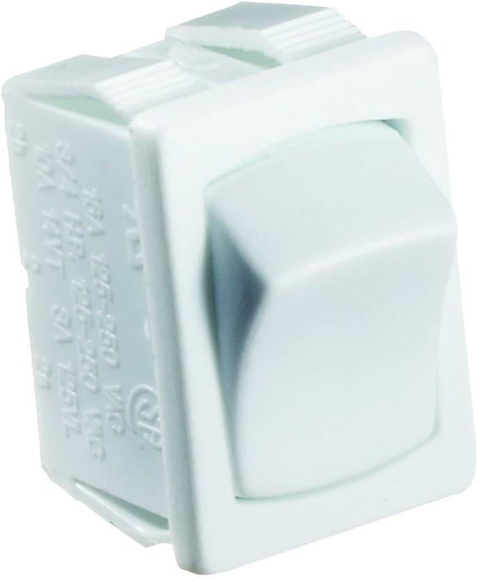 RV Designer S435 Rocker Switch safety 10 On Amp 2021 Off SPST White