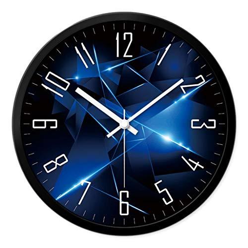 50 CM Pendule Murale en M/étal Style Vintage Horloge D/écorative avec Chiffres Romains Maissine Horloge Murale Geante Dor