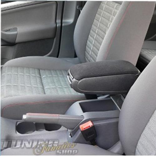 Mittelarmlehne / Mittel-Armlehne mit klappbarem staufach / Mittel-konsole [Bezug: Stoff/Textil] Fahrzeugspezifisch [Farbe: SCHWARZ]