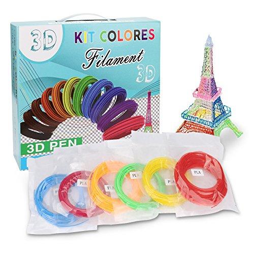 3D Stift Filament PLA, 20 Farben, je 10M – 3D Pen PLA Filament 1,75mm, 3D Stift Farben Set für ODRVM, Tecboss, Lovebay, 3D Stift and 3D Druck Stift - 7