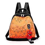 VICTOE Moda Salvaje Mujer Bolsa Calidad Shell Diamante Color Caramelo Pequeña Mochila Color Brillante Personalidad Raya Mochila Durable Mochila de Viaje, Orange (Naranja) - VICTOE-8623
