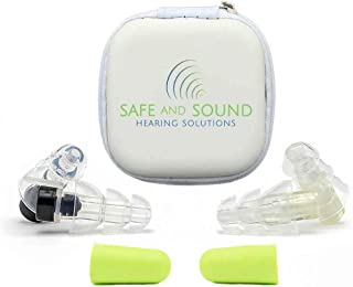 High Fidelity Ear Plugs by Safe and Sound Hearing Solutions - 2 Pairs - Ideal for Noise Reduction