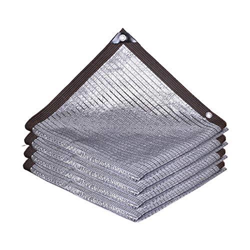 YTQ Bloque 85% de papel de aluminio UV para sombra de tela de luz solar reflectante con ojales invernadero para jardín flor patio (tamaño 5 m x 5 m)
