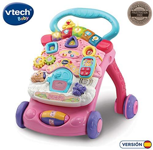 VTech 80-505687 Couloir Andandin 2 en 1, Design amélioré, Pliable et régulateur de Vitesse, SPB, Couleur Rose
