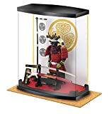 Samurai Figure Series A4 Tokugawa Ieyasu Armor, Dust Proof Transparent Box Height 8.3', with Real Katana(Sword), in Study Office and Living Room, Like Ninja Bushido for Japan Gifts