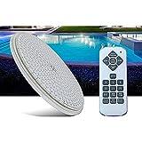 Luz LED para piscina rellena de resina 12 V Par56 Montaje en pared IP68 Luces subacuaticas impermeables 24W con control remoto (24)