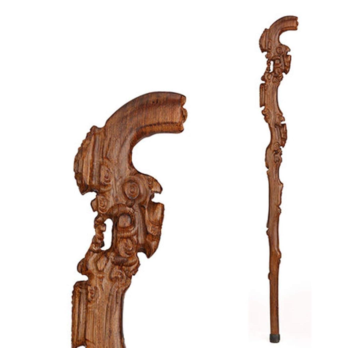 押し下げる残り物ペデスタル折りたたみ式の杖、松葉杖の木製の棒、無垢の木製、手羽先の木の老人の滑り止めの杖、おばあちゃんおじいちゃん