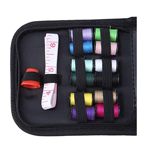 BBGSFDC Profesional Hilos multifunción Estuches de Costura 12 de la Cinta de Agujas de Tijera portátiles Herramientas útiles del hogar del Recorrido de Costura Completo (Color : Multi-Colored)