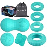 Massage Balls & Hand Exerciser Grip Strength Trainer, TEYIYES Lacrosse Peanut Massage Ball for Back...