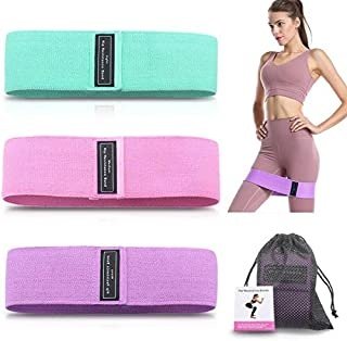Xeapoms Resistance Bands 3 Sets, Premium Exercise Loops with Non-Slip Design for Hips & Glutes, 3 Resistance Level Workout...