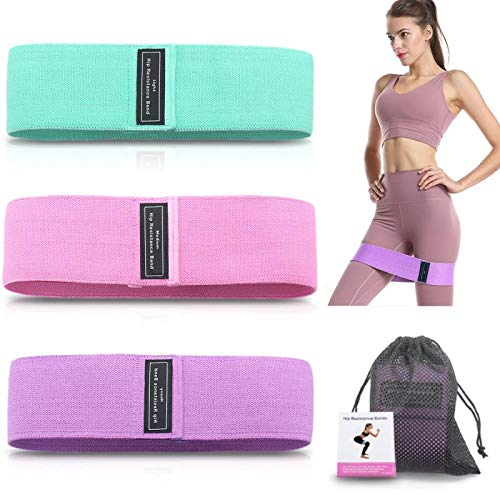 Xeapoms Resistance Bands 3 Sets, Premium Exercise Loops with Non-Slip Design for Hips & Glutes, 3 Resistance Level Workout Booty Bands for Women and Men, Best for Home Fitness, Yoga, Pilates