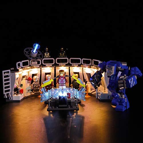 Licht-Set Für (Marvel Super Heroes Iron Mans) Modell - LED Licht-Set Kompatibel Mit Lego 76125 - Modell Nicht...