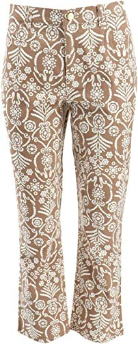 LIZ CLAIBORNE NY Jackie Straight Printed Ankle Jeans Soft Taupe 12# A266183