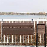 Pkfinrd Tabla Colgante Balcón Mesa Plegable, Tabla de Estudio Colgante de la barandilla, Barra de la casa levantando Escritorio Plegable Estante Colgante (Size : 100 * 37cm)