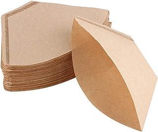 100 morceaux de papier à café cône utilisé dans le filtre cup-102, filtre à café pour 1-4 tasses, sacs filtrants pour mach...