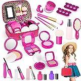 TLM Toys Juego de maquillaje para niñas, 19 piezas, juego de maquillaje para niñas, juego de maquillaje, juego de maquillaje, juguete de rol, regalo a partir de 3 años