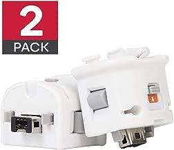 GIRIAITUS Wii Motion Plus Adapter-External Remote Motion Plus Sensor Controller -White,Set2 Pack