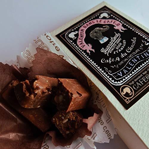 バレンタイン 限定 黒プチボックス カフェック cafe,q tokyo / マカダミアクランチチョコレート、 カフェック ド ショコラ/義理チョコ お返し 友チョコ、お菓子 人気 ギフト 退職 転勤 お礼 プチ ギフト