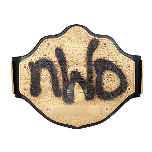 WWE Authentic Wear NWO Spray Paint WCW Championship Replica Title Belt Gold/Black